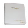 Hochzeitsalbum aus weißem Leder