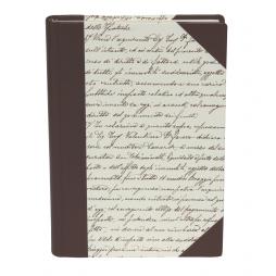 Poesiealbum Scrittura Halbleder – blanko Buch mit Papierbezug und Lederelementen
