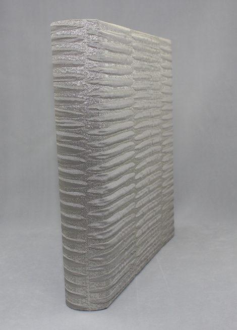 Fotoalbum Trieste im exklusiven Stoffeinband mit dreidimensional glänzender Silberoptik