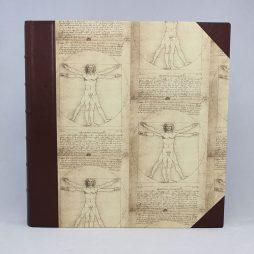 Fotoalbum Leonardo Da Vinci mit hochwertigem Halbledereinband