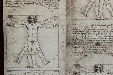 "Fotoalbum  "" Leonardo Da Vinci"",  aus hochwertigem Halbledereinband"