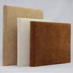 Gästebuch Vesuv aus Wildleder mit Büttenblock