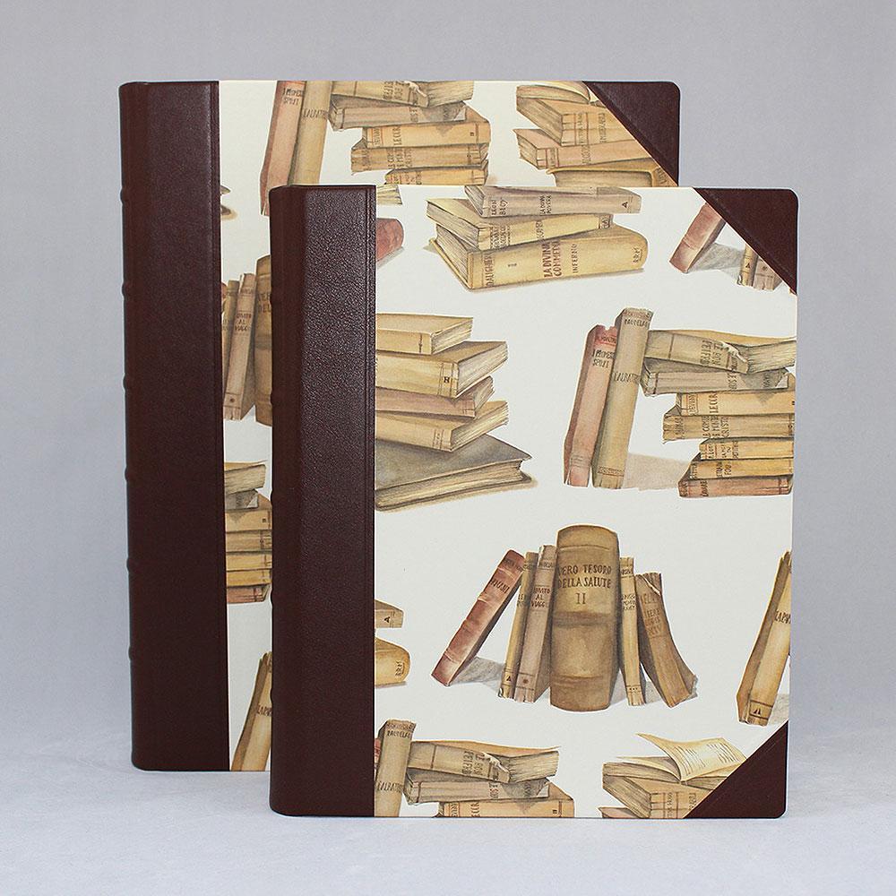 """Gästebuch """"Il Libro"""", aus hochwertigem Halbledereinband"""
