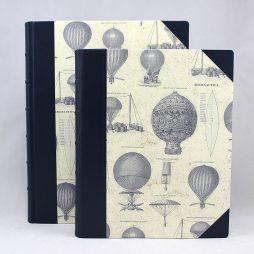 """Gästebuch """"Aereonautica"""" aus hochwertigem Halbledereinband"""