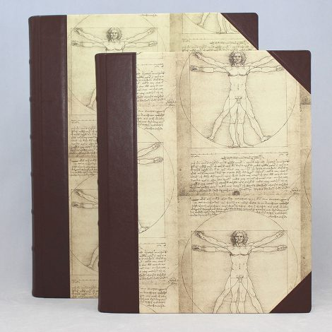 "Gästebuch ""Leonardo Da Vinci"" Halbleder"