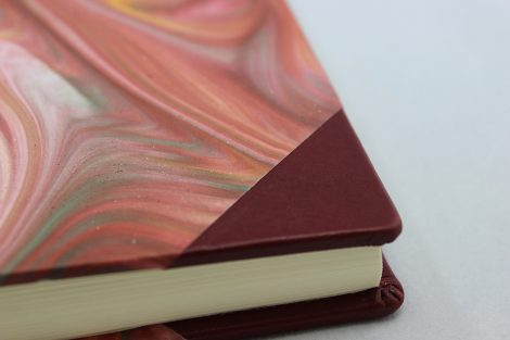 Gästebuch Marmor Halbleder