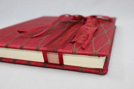 Gästebuch Milano in rot oder chamois