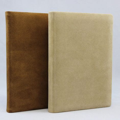 Notizbuch Vesuv in Wildleder braun, mocca oder lattemacchiato
