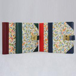 Poesiealbum und Tagebuch mit Schloss Florentina Halbleder