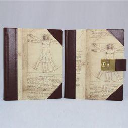 Poesiealbum und Tagebuch mit Schloss Leonardo Da Vinci Halbleder