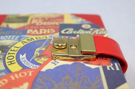 Poesiealbum und Tagebuch mit Schloss Paris Halbleder