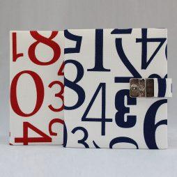 """Poesie-Tagebuch """"Numeri"""" Stoffeinband"""