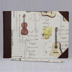 """Musikbuch """"Instrumenti"""" Halbleder"""