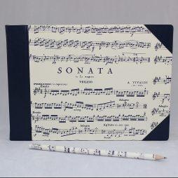 """Musikbuch """"Sonata"""" Halbleder"""