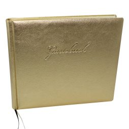 "Gästebuch ""Gold "" - Gästebuch im Querformat"