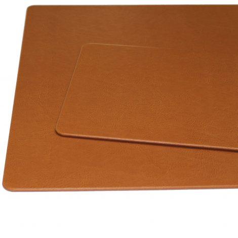 Schreibtischunterlage Memory Cognac mit passendem Mousepad