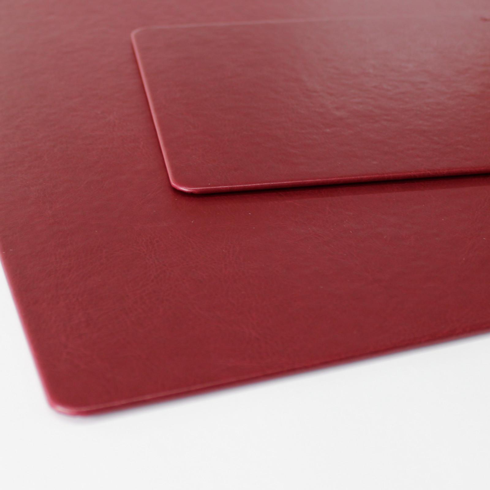 Schreibtischunterlage Memory bordeaux mit Mousepad
