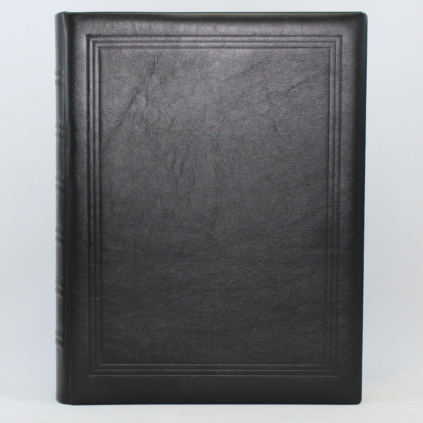 Gästebuch dick schwarz Vollrindleder mit Goldschnittblock ...