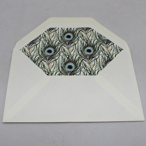 Briefpapier Pfauenfeder