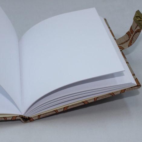 Tagebuch mit Schloss Roma in Braun