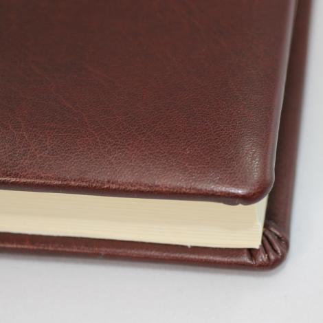 Gästebuch Memory dunkelbraun handgerissener Büttenblock – Gästebuch aus Kunstleder