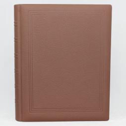 Gästebuch dick braun genarbtes Leder mit Goldschnittblock