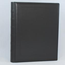 Gästebuch dick schwarz Vollrindleder handgerissener Büttenblock