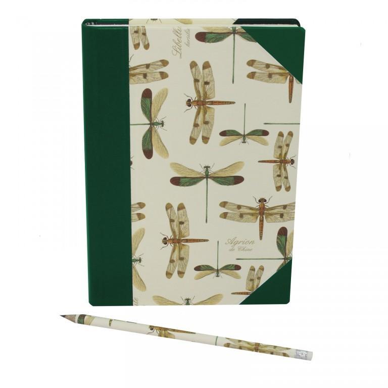 Notizbuch Libellule mit passendem Stift