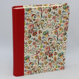 Notizbuch Tempesta rot mit integriertem Stifthalter