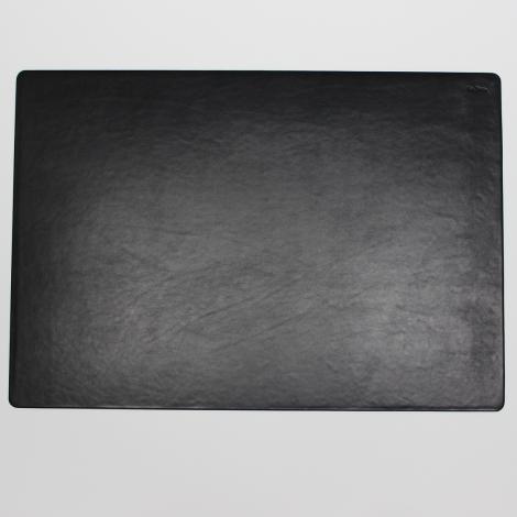 Schreibtischunterlage Leder mit Mousepad schwarz