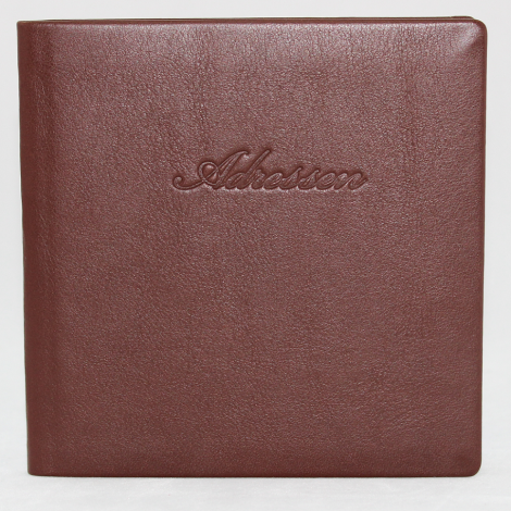 Adressbuch Leder – Lederbüchlein für Ihre Adressen – in vielen Farben erhältlich