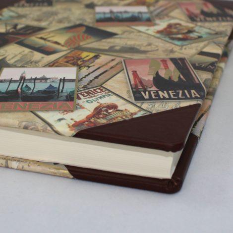 Gästebuch Venezia Halbleder – Gästebuch mit Reisethema Venedig