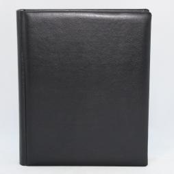 Gästebuch Memory schwarz handgerissener Büttenblock – Gästebuch aus Kunstleder