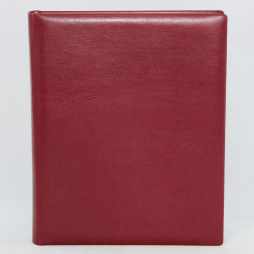 Gästebuch Memory weinrot handgerissener Büttenblock – Gästebuch aus Kunstleder