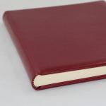 Gästebuch Memory weinrot handgerissener Büttenblock