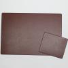 Schreibtischunterlage Leder mit Mousepad braun