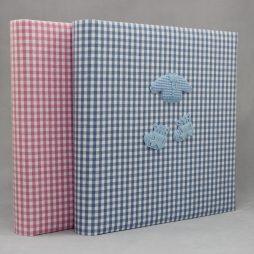 Kinderalbum Baby in Blau oder Rosa