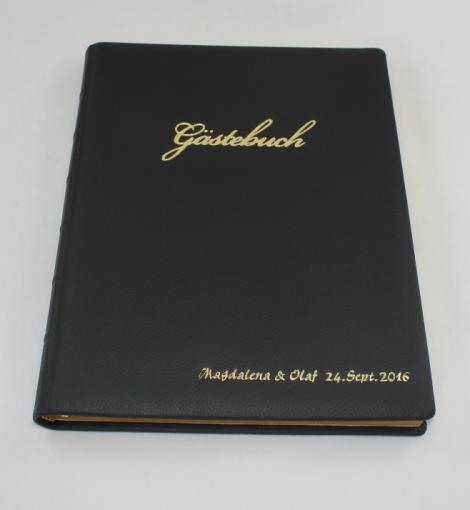 Foto-Gästebuch Zeus aus braunem Vollrindleder
