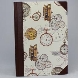Notizbuch Time A4 mit braunem Leder