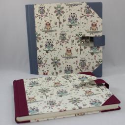 Tagebuch Uhu in weinrot oder blau