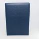 Unterschriftenmappe glattes Vollrindleder Blau