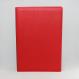 Unterschriftenmappe glattes Vollrindleder Rot