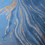 Marmoreffekt Halbleder blau
