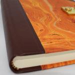 Tagebuch Marmoreffekt Halbleder