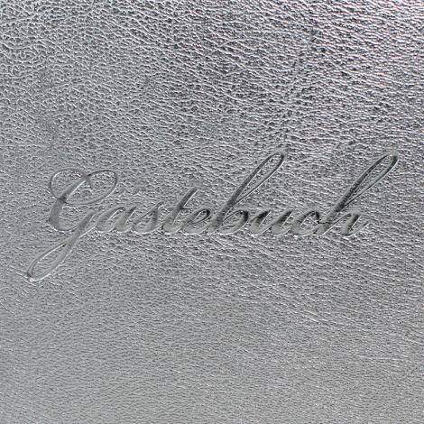 """Gästebuch """"Silber """" quer mit Prägung"""