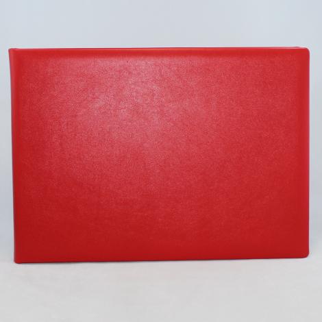 Foto-Gästebuch Zeus aus rotem Vollrindleder – Fotoalbum und Gästebuch in einem
