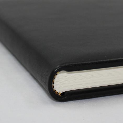 Foto-Gästebuch Zeus aus schwarzem Vollrindleder – Fotoalbum und Gästebuch in einem