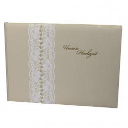 Foto-Gästebuch Vintage mit individueller Prägung für die Hochzeit