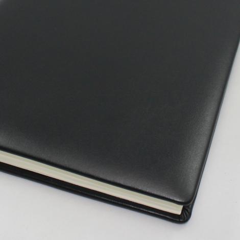 Kondolenzbuch in Leder schwarz mit Trauerrand