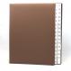 Pultordner mit Register 1-31 aus genarbtem Vollrindleder Braun